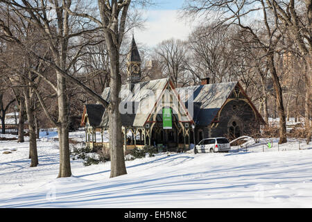 New York, NY, USA. 18th February, 2015. Visitor center building in Central Park in New York City , USA on February - Stock Photo