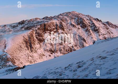 The summit of Cadair Idris, Snowdonia national park, north Wales. - Stock Photo