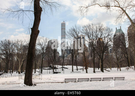 New York, NY, USA. 18th February, 2015. Winter day scenery in Central Park in New York City , USA on February 18, - Stock Photo