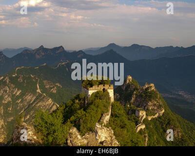Great Wall of China at Jiankou, Beijing, China - Stock Photo
