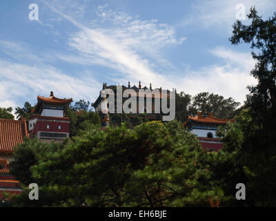 Summer palace in Beijing at Kunming Lake from the Back, China - Stock Photo