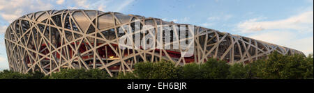 Birdsnest in Beijing, China, Olympic Stadium - Stock Photo