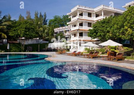 Hotel La Veranda at Long beach on the island Phu Quoc, Vietnam, Asia - Stock Photo