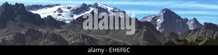 The glacier of Marmolada in the Dolomites, Italy - Stock Photo