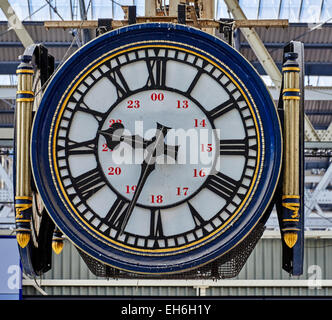 London Waterloo station is a London railway terminus and London Underground station in the London Borough of Lambeth - Stock Photo