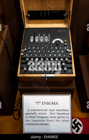 Annapolis Junction, Maryland, USA. 02nd Mar, 2015. An Enigma machine is displayed at the National Cryptologic Museum - Stock Photo