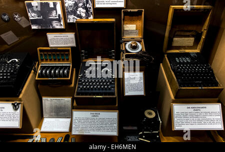 Annapolis Junction, Maryland, USA. 02nd Mar, 2015. German code machines are displayed at the National Cryptologic - Stock Photo