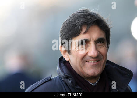 Udine, Italy. 8th March, 2015. Urbano Cairo Torino's President during the Italian Serie A football match between - Stock Photo