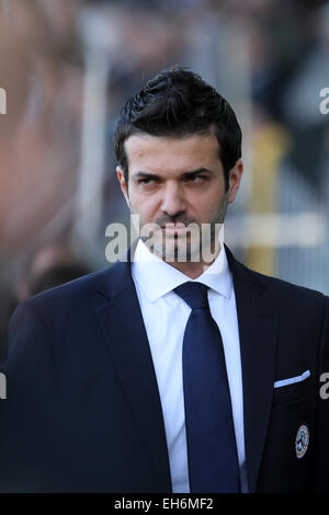 Udine, Italy. 8th March, 2015. Andrea Stramaccioni Udinese's coach during the Italian Serie A football match between - Stock Photo