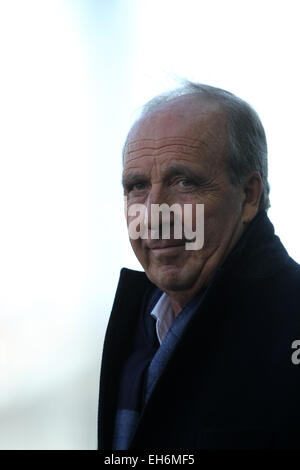 Udine, Italy. 8th March, 2015. Giampiero Ventura Torino's Coach during the Italian Serie A football match between - Stock Photo