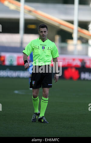 Udine, Italy. 8th March, 2015. Referee Nicola Rizzoli during the Italian Serie A football match between Udinese - Stock Photo