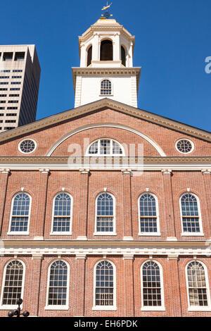 Faneuil Hall, Boston, Massachusetts, USA - Stock Photo