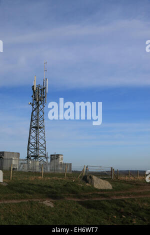 Mobile cell phone relay mast - Stock Photo
