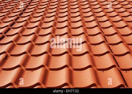 metal roof texture background closeup - Stock Photo
