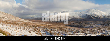 Strath Dionard in winter, Sutherland - Stock Photo