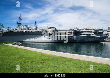 USS Midway Aircraft Carrier museum in San Diego California - Stock Photo