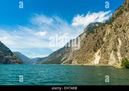 Seton Lake, Seton Lake Reservoir Recreation Area, Duffey Lake Road (Highway 99) near Lillooet, BC, Canada - Stock Photo