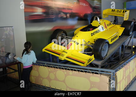 Race car exhibition in Liberty Science Center New Jersey USA - Stock Photo