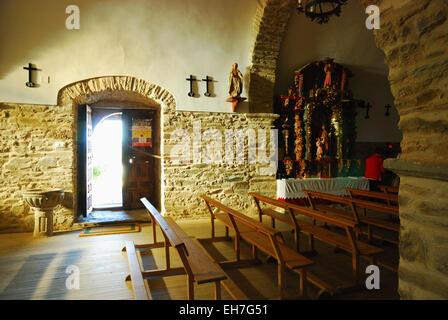 El Acebo, comarca de El Bierzo. Church of Saint Michael - Stock Photo