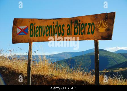 El Acebo, comarca de El Bierzo - Stock Photo