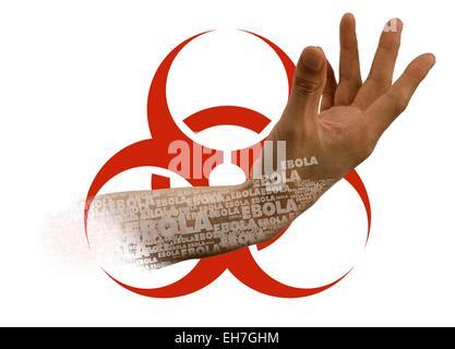 Ebola epidemic, conceptual image - Stock Photo