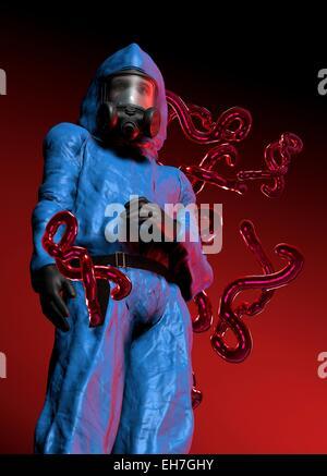 Ebola epidemic, conceptual artwork - Stock Photo