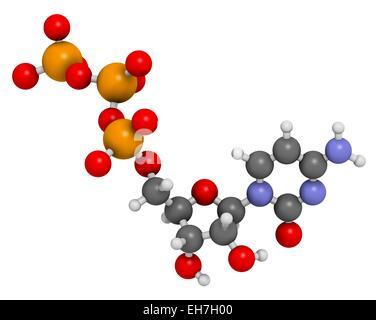 Cytidine triphosphate molecule - Stock Photo