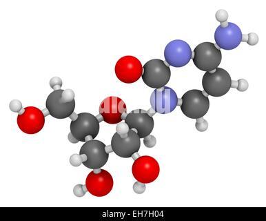 Cytidine molecule - Stock Photo