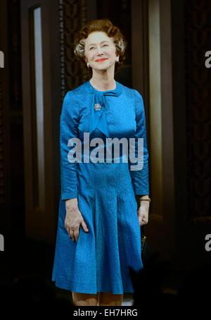 New York, NY, USA. 8th Mar, 2015. Helen Mirren in attendance for THE AUDIENCE Opening Night on Broadway, Gerald - Stock Photo