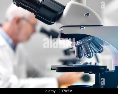 Microscope Laboratory - Stock Photo