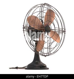 Antique fan, illustration - Stock Photo