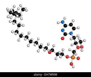 Brincidofovir antiviral drug molecule - Stock Photo