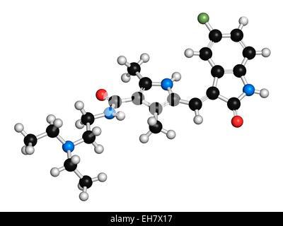 Sunitinib cancer drug molecule - Stock Photo