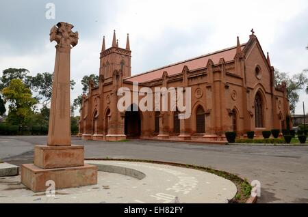 Saint John's Cathedral Anglican church Peshawar Pakistan located in the Cantonment area of the city. - Stock Photo