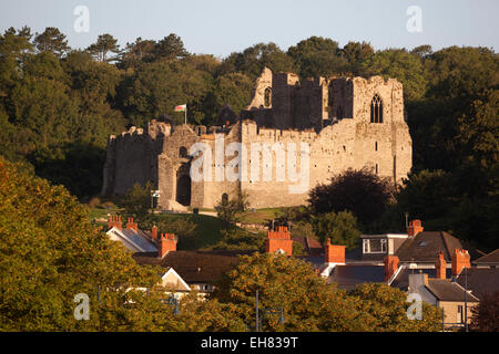 Oystermouth Castle, The Mumbles, Gower Peninsula, Swansea, West Glamorgan, Wales, United Kingdom, Europe - Stock Photo