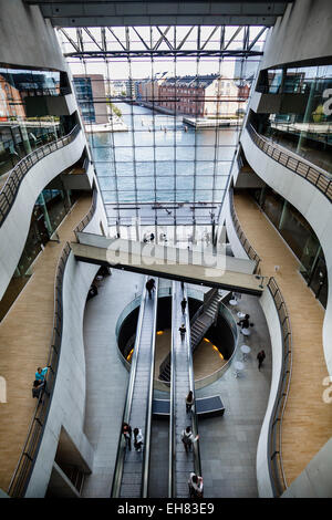 The interior of the Black Diamond building, house of the Royal Library, Copenhagen, Denmark, Scandinavia, Europe - Stock Photo