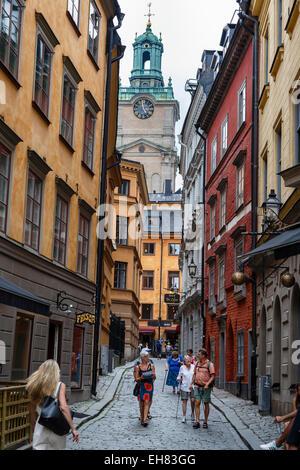 Street scene in Gamla Stan, Stockholm, Sweden, Scandinavia, Europe - Stock Photo