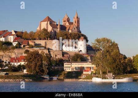 Muensterberg Hill with Minster St. Stephan, Breisach am Rhein, Kaiserstuhl, Breisgau, Black Forest, Baden Wurttemberg, - Stock Photo