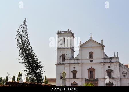 Christian Catholic Se cathedral in Old Goa, India - Stock Photo