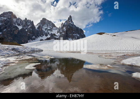 Pale di San Martino by San Martino di Castrozza, Dolomites, Trentino, Italy - Stock Photo