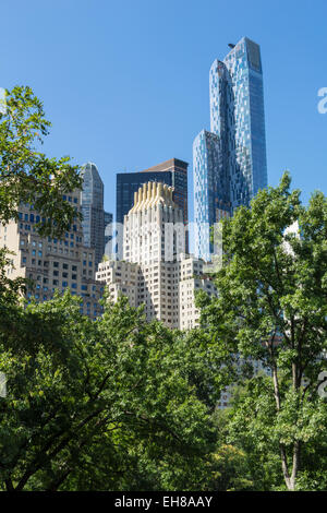 Skyscrapers near Central Park, New York City, United States of America, North America - Stock Photo