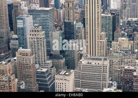 Manhattan skyscrapers, New York City, United States of America, North America - Stock Photo