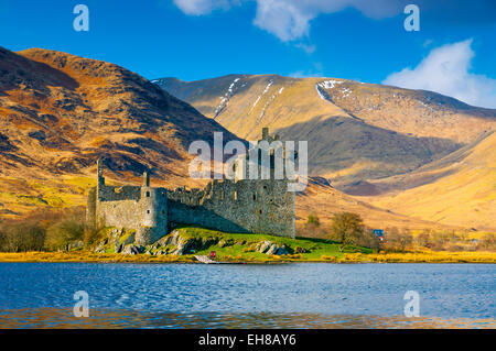 Kilchurn Castle, Loch Awe, Argyll and Bute, Scotland, United Kingdom, Europe - Stock Photo