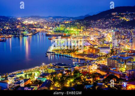 Nagasaki, Japan cityscape at the bay. - Stock Photo
