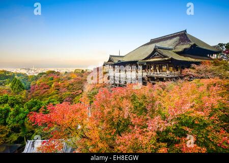 Kyoto, Japan at Kiyomizu-dera shrine in the autumn season.
