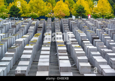 Berlin, Germany at the Holocaust monuments. - Stock Photo