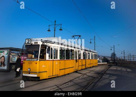 Tram in Budapest, Hungary - Stock Photo