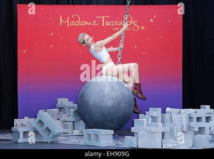 Las Vegas, NV, USA. 9th Mar, 2015. Miley Cyrus Figure at the press conference for Miley Cyrus Wrecking Ball Figure - Stock Photo