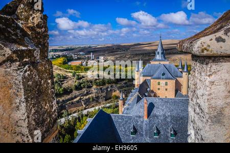 Views of Segovia from Alcazar - Stock Photo