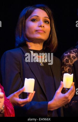 New York, NY, USA. 9th Mar, 2015. at arrivals for INDIA'S DAUGHTER Premiere, Mason Hall, Baruch College CUNY, New - Stock Photo